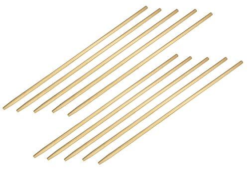 10 Stück BawiTec Besenstiel Holzstiel 160cm Ø 28mm Gerätestiel mit Konus Besen-Stiel Posten