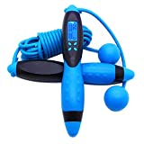 Jump Rope,Digital Counting Speed Jumping Rope Counter for Indoor/Outdoor Fitness Boxing Training Adjustable Weighted Jump Rope Workout for Men,Women,Children Skipping Rope (Rope/Cordless)