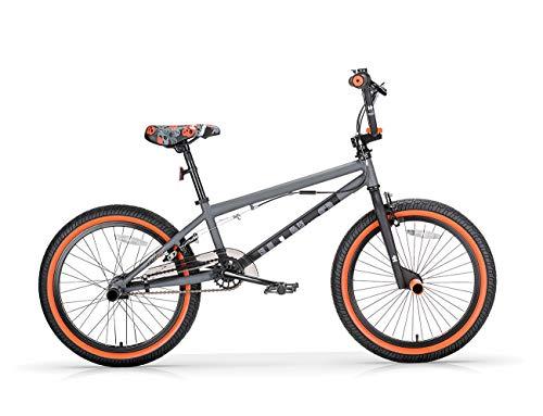 Bicicleta BMX Freestyle 20 U-N+O MBM gris naranja