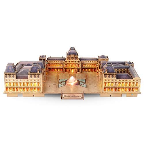 Rompecabezas GCX- Puzzle 3D Tridimensional asamblea del Juguete Louvre Louvre Edificio Regalo Modelo Creativo Idea Interesante