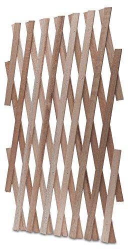 Windhager Hartholz-Spalier, Rankhilfe, Rankgitter, Holzzaun, Pflanzengitter, zusammenfaltbar, variabel verstellbar, 60 x 180 cm, 05673
