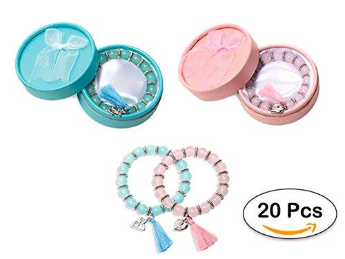 Lote de 20 Pulseras Sweet Presentadas en Estuche Individual de Regalo - Pulseras en caja, cajita de regalo. Ideales para Regalos de Bodas, Comuniones y Bautizos
