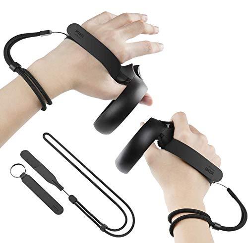 KIWI design Knöchelriemen mit Verstellbarer Handschlaufe für Oculus Quest/Oculus Rift S Touch Controller Zubehör (1 Paar) nicht für Quest 2 geeignet