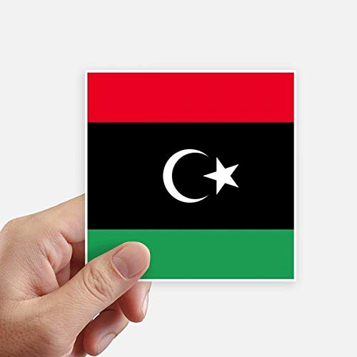DIYthinker Drapeau National Libya Africa Country Square Autocollants 10CM Mur Valise pour Ordinateur Portable Motobike Decal 8Pcs 10Cm X 10Cm Multicolor