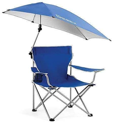 FBSPORT Sonnenschirm Stuhl,Justierbarer Überdachungs-faltender Lagerstuhl, tragbarer im Freienklappstuhl mit abnehmbarem Regenschirm, für das Kampieren im Freien, Fischenstuhl