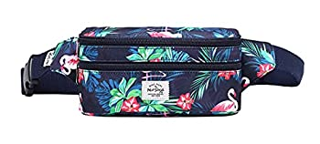 HotStyle 521s Small Fanny Pack Fashion Waist Bag Cute for Women Flamingoes