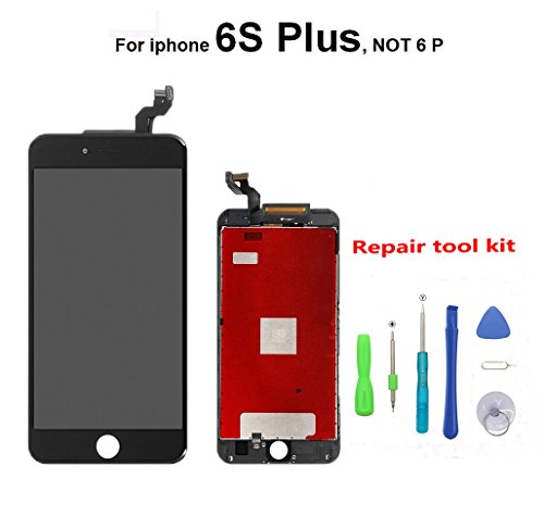 iPhone 6S Plus Scherm Vervanging Zwart voor iPhone 6S Plus Scherm LCD Display Touch Screen Digitizer Vervanging Assembly Reparatie met Gereedschap Kit