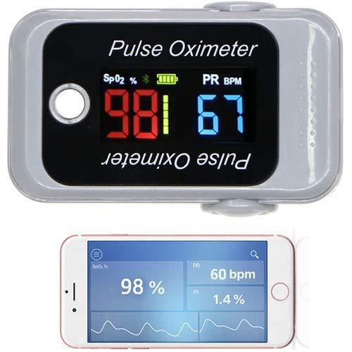 Pulsómetro y pulsómetro de dedo, medida Oxígeno SPO2 en la sangre con alarma Fitness Sport LCD OLED