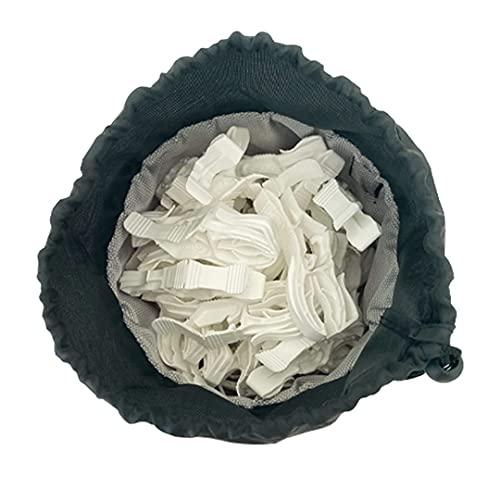 Foxydry Peggy Bag con 16 o 32 mollette, borsa portamollette, borsetta porta mollette contieni mollette in tessuto con 16/32 mollette antivento (16 mollette)
