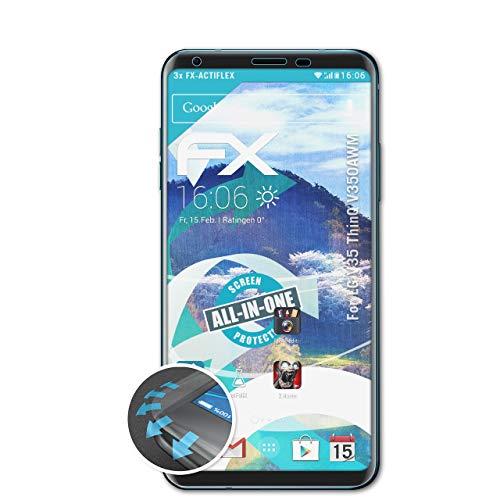 atFolix Schutzfolie kompatibel mit LG V35 ThinQ V350AWM Folie, ultraklare & Flexible FX Bildschirmschutzfolie (3X)
