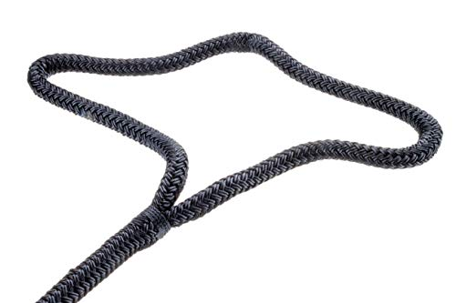 Seachoice Double Braid Nylon Dock Line with Eye Splice, Pre-Shrunk, Heat Stabilized, Various Sizes and Colors