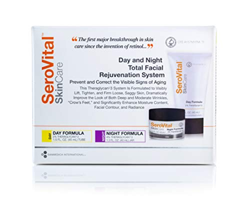 SeroVital Day and Night Total Facial Rejuvenation System - Anti Aging Skin Care Sets for Women - Anti Aging Night Cream for Face - Anti Wrinkle Cream for Face - Facial Kit - Anti Aging Cream
