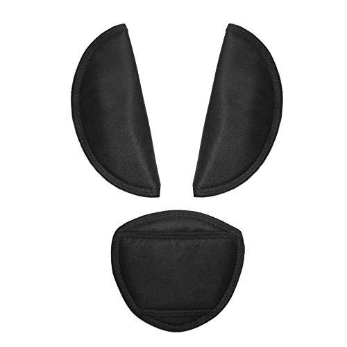 Aveanit Kinderwagengürtel-Abdeckung für Babyschale, universell, passend für die meisten Buggy-Gurtpolster (schwarz)