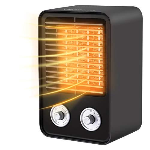 1500W Heizlüfter Energiesparend Kleine Tragbare Badezimmer Wohnzimmer Mit Überhitzungsschutz Keramik Einstellbarer Thermostat Elektrische Heizgeräte, 3 Modi Leise, 3s Schnelle Heizung