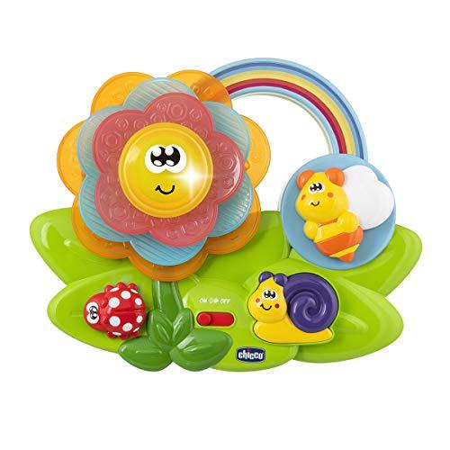 Chicco Blume der Sinne, Pädagogisches Baby-Sensorik Spielzeug, multisensorisches Aktivitätszentrum mit Musik und Lichtern, Montessori Spielzeug, Baby- und Kleinkindspielzeug 6-36 Monate