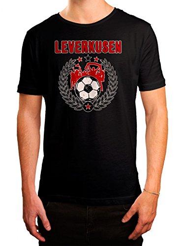 Leverkusen #3 Premium T-Shirt | Fussball | Fan-Trikot | #Jeden-Verdammten-Samstag | Herren | Shirt, Farbe:Schwarz (Deep Black L190);Größe:XL