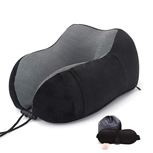 N/X 1PC Almohadas de Cuello de Espuma de Memoria en Forma de U Almohada de Viaje Espacial de Rebote Suave y Suave Almohada de Viaje Cervical de Cuello sólido