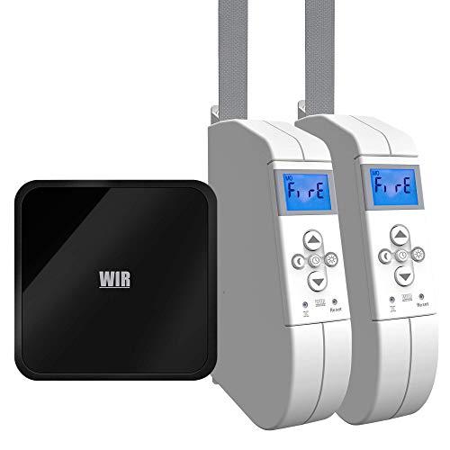 WIR Connect V6 Gateway mit 2 Stück eWickler eW940-F-M, elektrischer Aufputz-Gurtwickler, 15mm Gurtband, bis 45Kg, Alexa kompatibel
