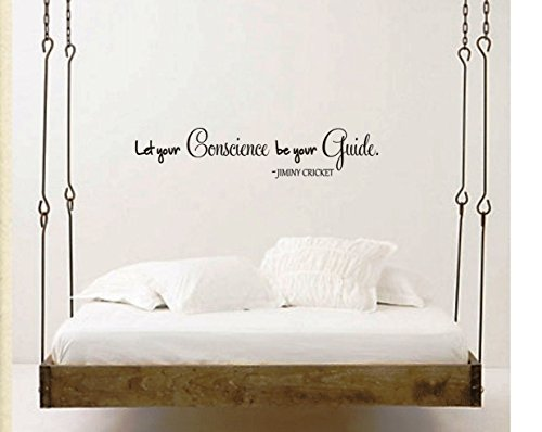 Jiminy Cricket Quote Vinyl Wall Decal Lettering Pinocchio Quote Conscience