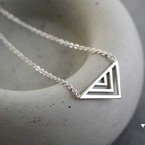 Yiffshunl Collar Collar Collar Simple Collar Triángulo Hueco Y Colgante Joyas