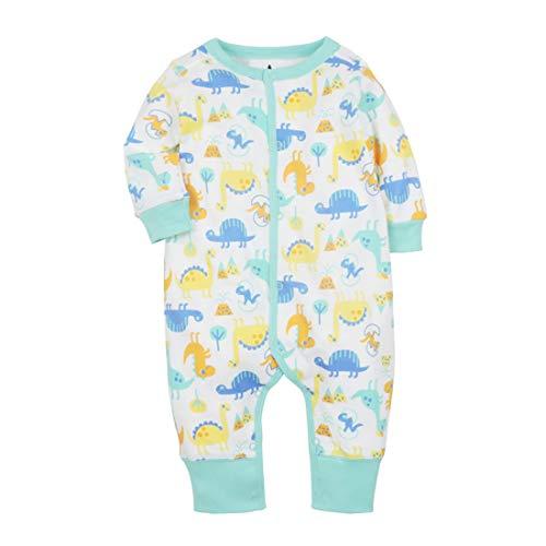 CARETOO Baby Rompers Niños Niñas Pijamas de Algodón Pijamas de Dibujos Animados Mono con 0-12 Meses