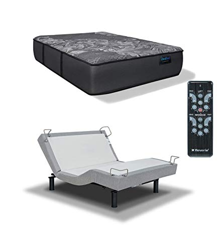 iDealBed Luxe Series Hybrid iQ5 Mattress with Reverie 5D Adjustable Bed Set, Massage, Zero Gravity, Pressure Relief Sleep System (Luxury Firm (Medium Firm Feel), Full)