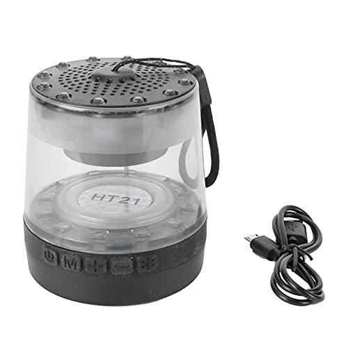 Bluetooth Speaker, 360° All‑Round Music Bluetooth Speaker Lamp 1200mah for Bedside Lighting Reading for Camping Night Repairs