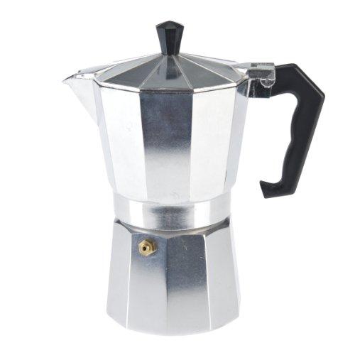 Axentia 223537 Espressokocher Aluminium für 6 Tassen