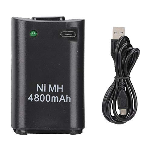 Rockyin 2-in-1 4800mAh Recargable Gamepad Ni-MH batería for Xbox Console Controller 360