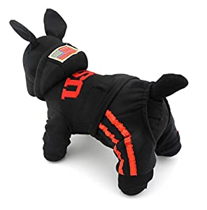 Pour Animal domestique Chat Chien Manteau Pull en coton doux à capuche USA pulls Costumes Vêtement pour Chien S/M/L/XL/XXL (Plus Petit, veuillez prendre la Prochaine à 2Dimensions)