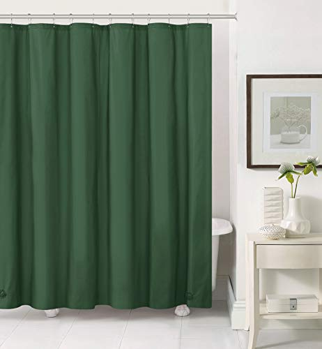 Hotel Collection Heavy Duty Mold & Mildew Resistant Premium PEVA Shower Curtain Liner with Rust Proof Metal Grommets - Assorted Colors (Hunter Green)