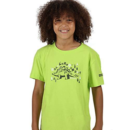 Regatta T-Shirt Junior100% Coton Bosley Respirant avec imprimé T-Shirts/Polos/Vests Enfant Electric Lime FR: XS (Taille Fabricant: 6-12m)