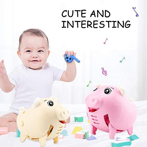 Big Save! Alician Electric Whistling Pig Cartoon Toy Sound Control Running with Music Light Intellig...