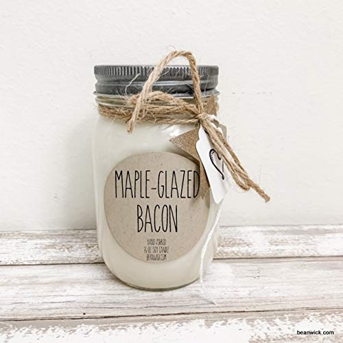 16 oz. Maple-Glazed Bacon scented 100% Soy Candle