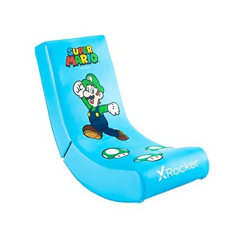 X Rocker Nintendo Super Mario Floor Rocker | Gaming Sessel für Kinder | Luigi Design