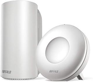 BUFFALO WiFi 無線LAN AirStation connect 親機+中継機セットモデル WRM-D2133HP/E1S 11ac ac2200 1733+400Mbps デュアルバンド 独自メッシュ機能搭載 3LDK 15台 【i...