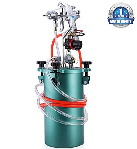 YUNSHINE Nueva 5L alta capacidad de mármol Pistola de pintura de piedra neumático pulverizador a presión de pintura 2.0Cal