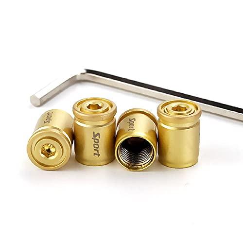 FBFG1Set Car Styling Aleación de Zinc Antirrobo Tapas de válvula de neumático de automóvil Deportivo Tapas de Aire de vástago neumático Tapón de Aire Tapas herméticas