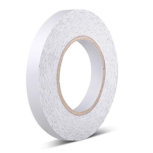 Sticky Fabric Tape Double-Sided Tape Adhesive Cloth Tape Press-on Tape, No Sewing, Gluing, or Ironing, Alterations and Hemming Tool (1 Piece, 3/5 Inch x 164 Feet)