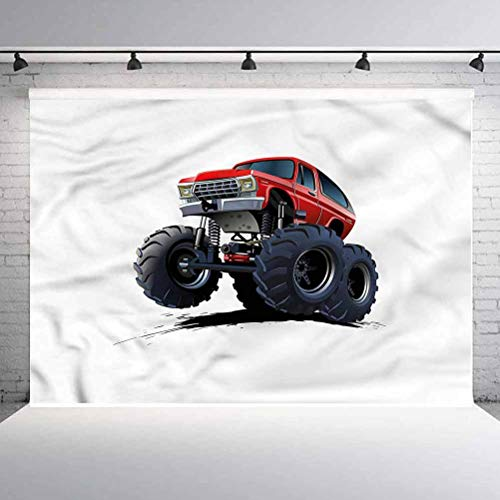 10x10ft Truck Vinyl Wall Photography Backdrop,Extreme Off Road Race Backdrop Backgroundfor Birthday Party Seamless Photo Booth Prop Backdrop (Backdrop Only)