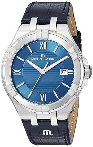 Maurice Lacroix Herren analog Swiss Quartz Uhr mit Leder Armband AI1008-SS001-430-1
