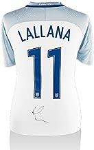 Adam Lallana Hand-Signed 2016/17 England Home Shirt - Number 11 Autograph - Autographed Soccer Jerseys