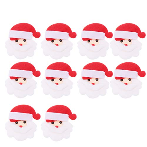 Amosfun Accessori di cucito di natale della decorazione del Babbo Natale del fumetto della toppa di cucito di natale 10pcs