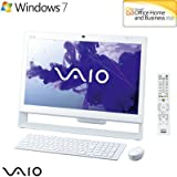 ソニー(VAIO) VAIO Jシリーズ J248 W7H 64/Ci5/21.5 Full HD/4G/BD/2T/W-LAN/Office/TV/ホワイト VPCJ248FJ/W