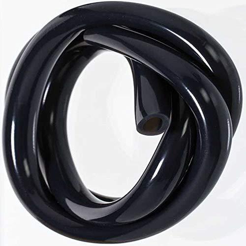 Rauch dein Obst | Shisha Silikonschlauch | 150 cm | leichte Reinigung | lebensmittelechtes Silikon | inkl. Sticker in Carbon-Optik (Schwarz)