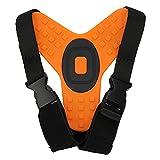 Soporte de correa de barbilla para casco de motocicleta, correa de soporte de soporte de mandíbula para casco de bicicleta, compatible con cámaras deportivas para ciclistas, motociclistas(naranja)