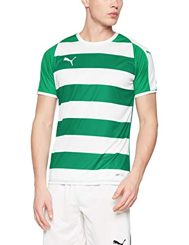 PUMA Men's Liga Stripe Jersey, Pepper Greenpuma White, L