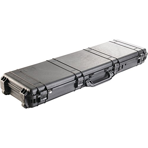 Pelican 1750 NF Black Watertight Protector Gun Case No Foam w/Wheels 1750-001-110