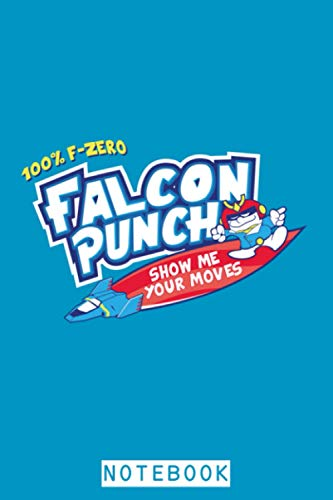Super Smash Bros Hawaiian Punch Falcon Punch Mashup Notebook: Lined College Ruled Paper, 6x9 120 Pages, Matte Finish Cover, Journal, Diary, Planner