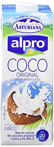 Alpro Central Lechera Asturiana Bebida de Coco con Arroz - Paquete de 6 x 1000 ml - Total: 6000 ml